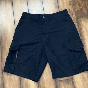 Men's navy blue cargo shorts
